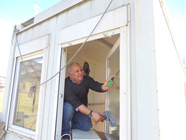Werkzeugcontainer Fensterputz